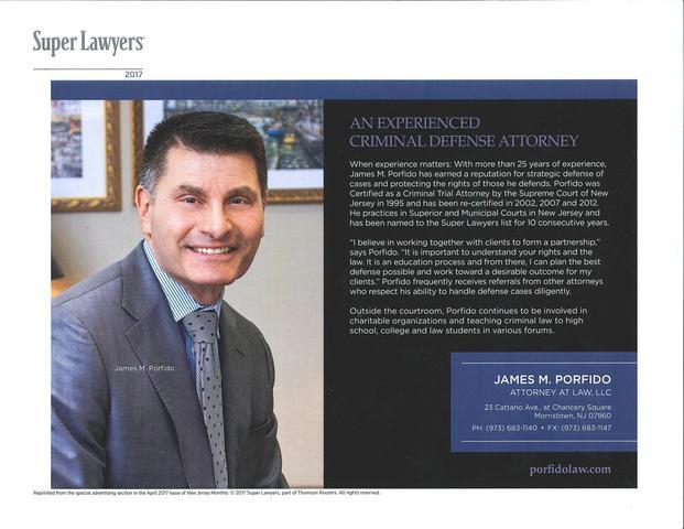 Lawyer James Porfido - Morristown, NJ Attorney - Avvo
