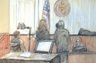 Federal Sentencing courtroom sketch in mortgage fraud case, 2012.