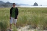 There is Haystack rock (oh and yeah, that's my son, my handsome son, in the foreground ;-)