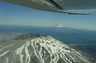 View of Mount Rainer and Mount St. Helens from my Cessna 172