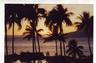 SUNSET ON MAUI -- From Hanakawei in Maui, the lovely sunset is seen through swaying palm trees.