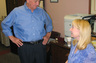 Don discusses matters of law with his probate paralegal, Ellen Waldon