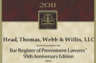 William C. Head recognized for his legal ability and ethical standards, for 2011